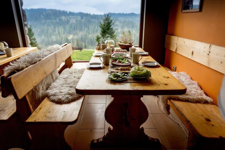 Kwatera uKasi - pokój 4osobowy z widokiem. - Bukowina Tatrzańska - Bed & Breakfast