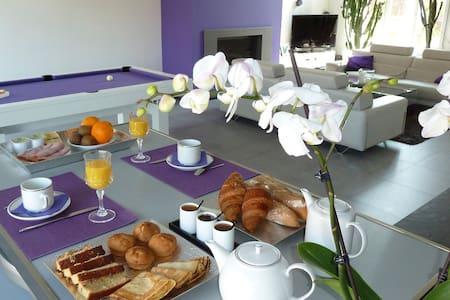 Chambres d'Hôtes PARFUM DE NUIT - Anstaing - Oda + Kahvaltı