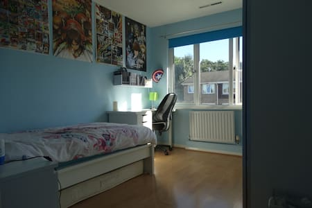 1 Manga double bedroom, with a single bed - 布罗姆利