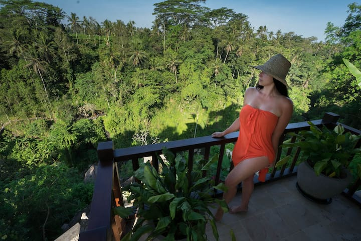 "Simona, Airbnb On-Line Guest Review:  ""the best airbnb I have ever had...We spend our 5 days in jungle heaven. Amazing breakfast, breathtaking sunrise views, peaceful place...not far from city centre. There was nothing I can rate worse than perfect."""
