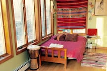 2nd bedroom lets Mother Nature soothe you to sleep with the windows open