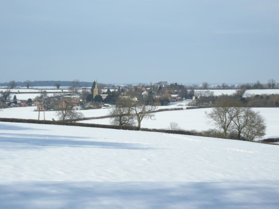 Our village- if you're lucky enough to be here on a day like this you'll join the locals in the Pub