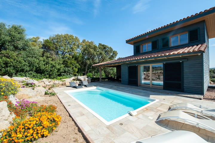 Villa 'Les Oliviers' with private pool closed to beach and mountain