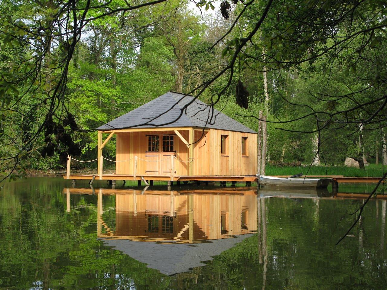 Cabane sur l'eau : Martin Pêcheur