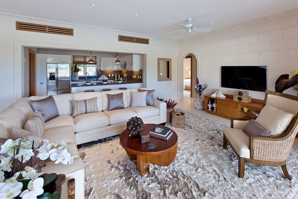Spacious living area with luxurious furnishings