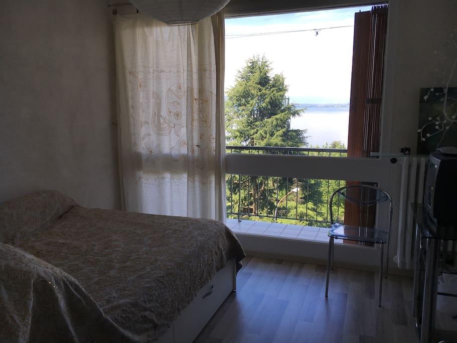guest room chez particulier evian les bains guest houses louer vian les bains auvergne. Black Bedroom Furniture Sets. Home Design Ideas