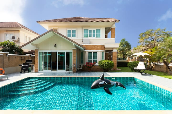 0ur beautiful villa with private swimming pool and barbeque.