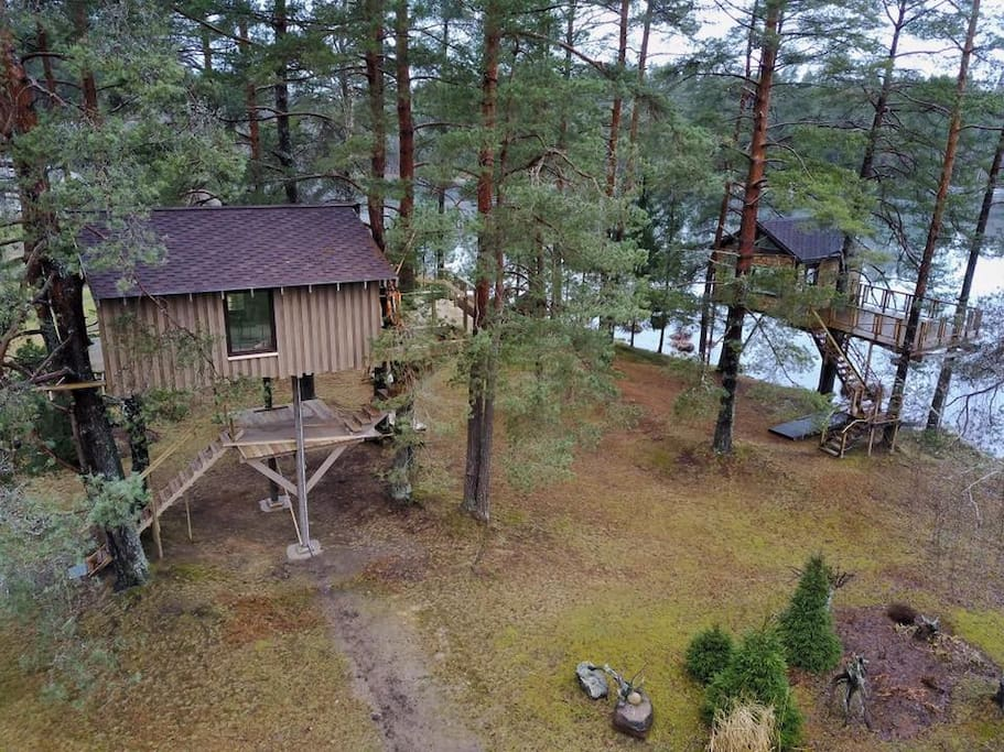 Both Tree houses.Our second listing (Cone) is only available to Tree house guests