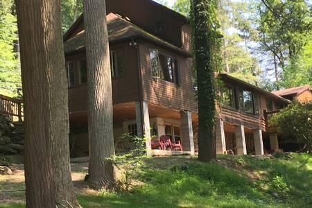 Beautiful Log Home on the Loyalsock Creek
