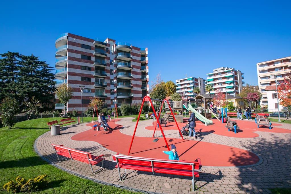 Nearby playground for children