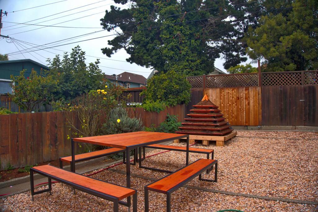 Enjoy a picnic in our sunny garden
