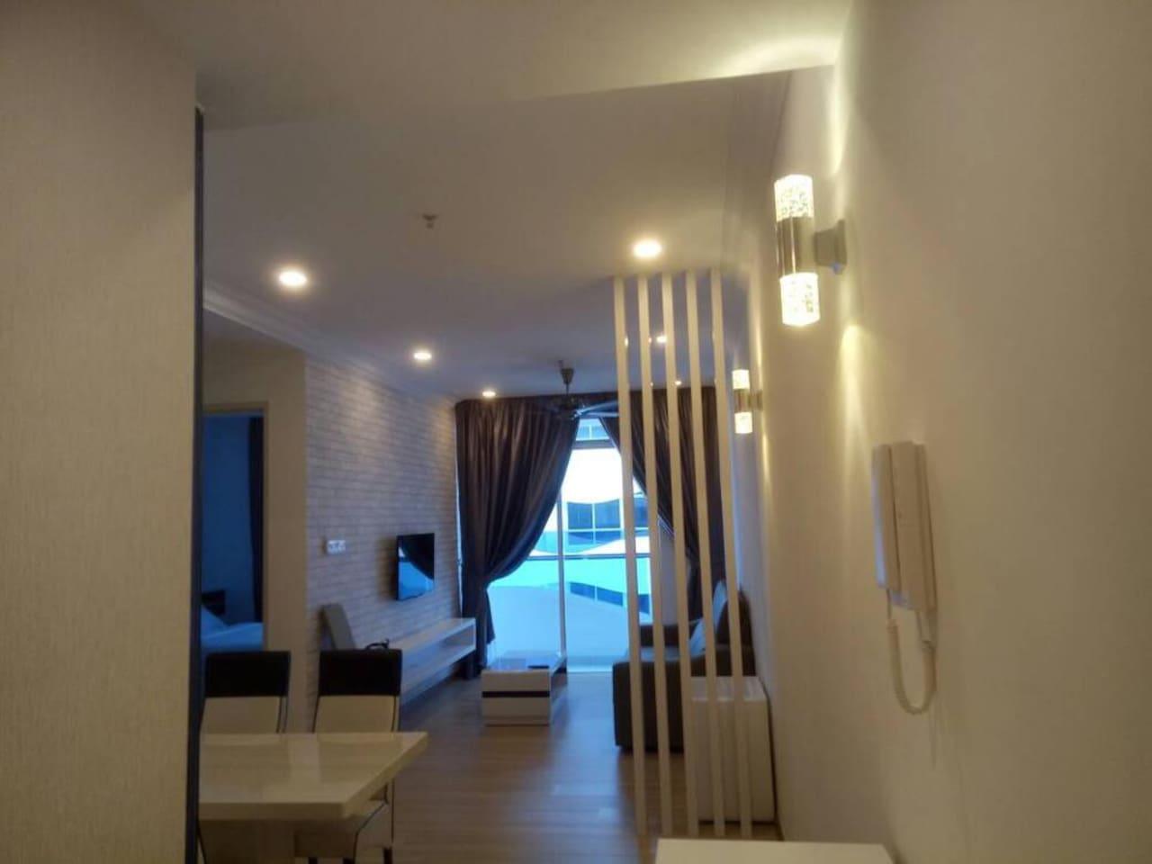 stylish and modern living room