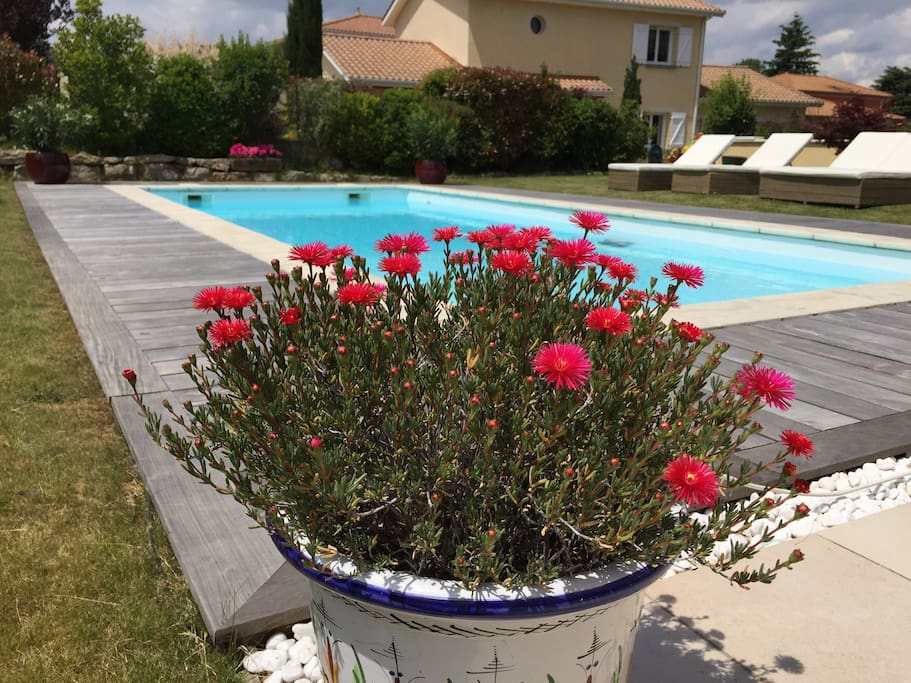 Cosy villa with pool close to lyon houses for rent in for Pool show lyon france