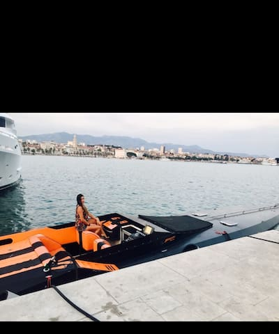 Luxury speed boat in Split