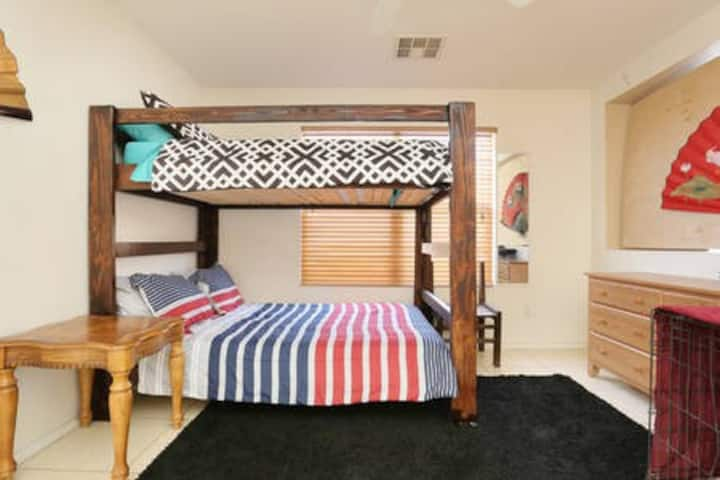 A Bunkbed in The Kitchen.