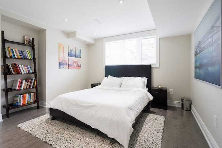 WHITE- Private Basement in North York-TO 2BR 3Bed