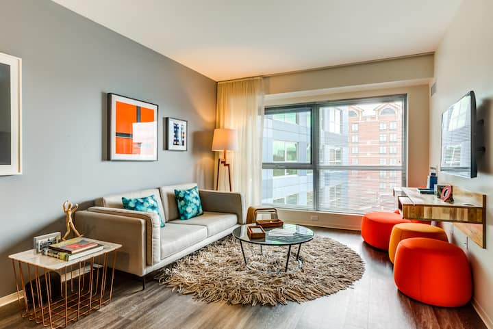 Live + Work + Stay + Easy   1BR in Cambridge