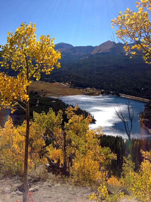 View from Boreas pass road a mile away