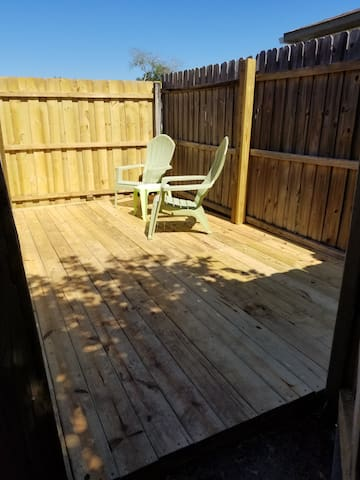 Spacious and private deck exclusive for our Airbnb guests!