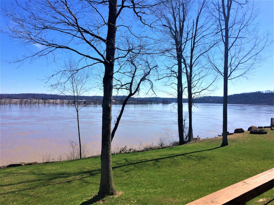 Deck view of river.  Spring is on the way!!