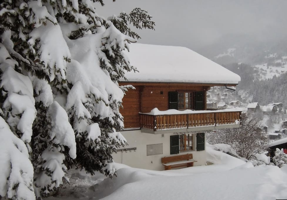 Chalet Anne-Marie during the winter