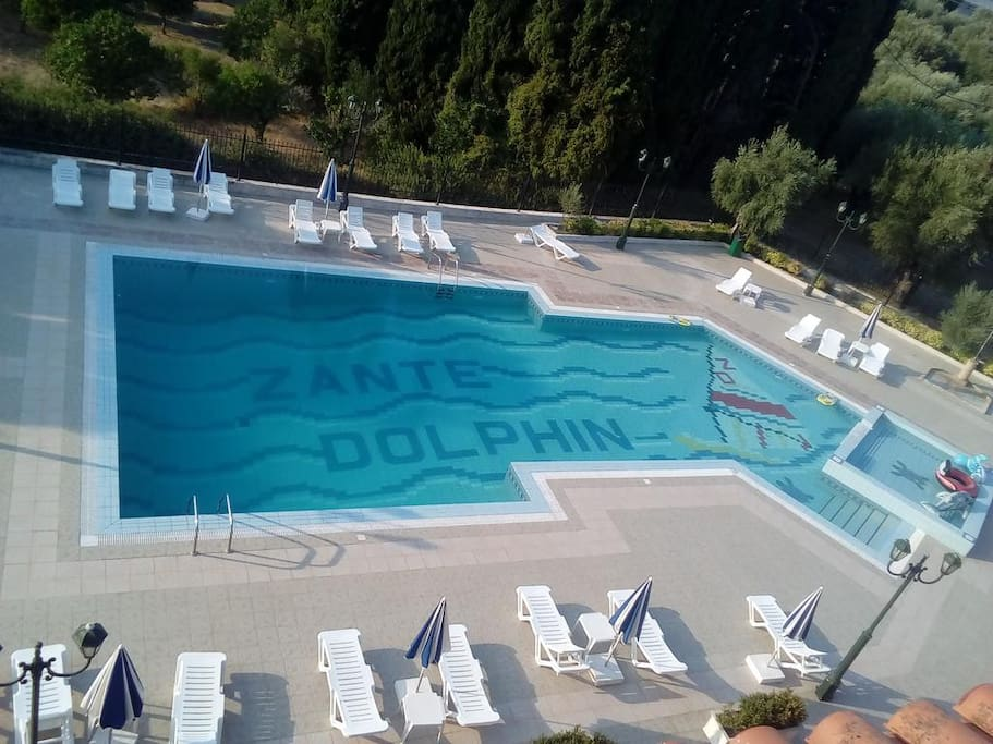 Zante Dolphin main pool and kids pool
