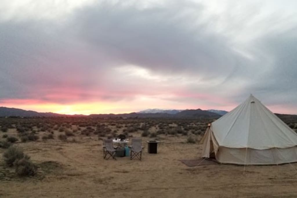 Dirtbag Y Joshua Tree Yurt Glamping Yurts For Rent In Joshua Tree California United States Wifi and parking are free, and this vacation home the castle house estate. dirtbag y joshua tree yurt glamping