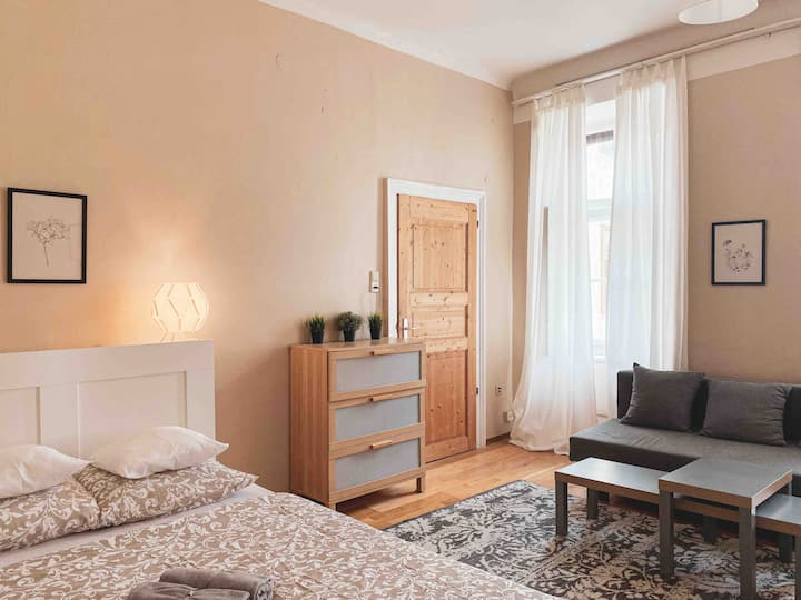 ☆Cute Studio direct connected with Center&Airport!