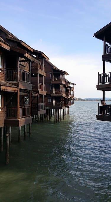 External view of the Sea Villas.