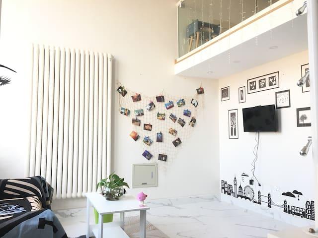 『良乡大学城』精装loft简约二层@蒲公英之家民宿