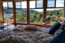the suite in the first floor of Villa Alejandro with the view into the Boquete Valley
