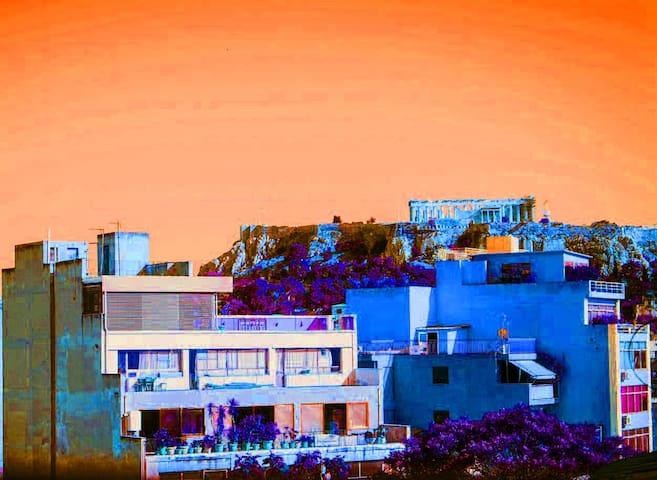 Cozy Loft with Acropolis view - Athen - Loft