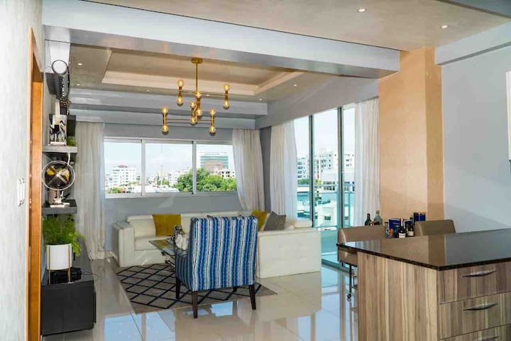 Downtown apartment  in Santo Domingo Luxury, Pool.