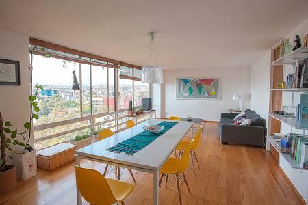 Room w/panoramic view in Condesa - Ciudad de México - Apartment