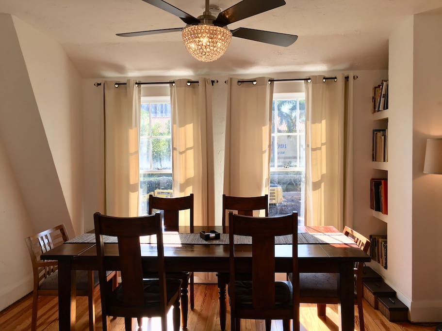 Large dining table/work area