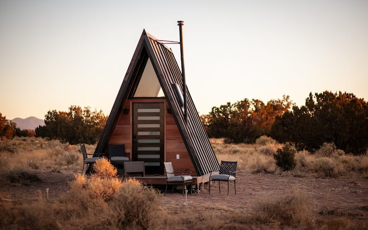 Glamp like a pro in the Grand A-Frame!