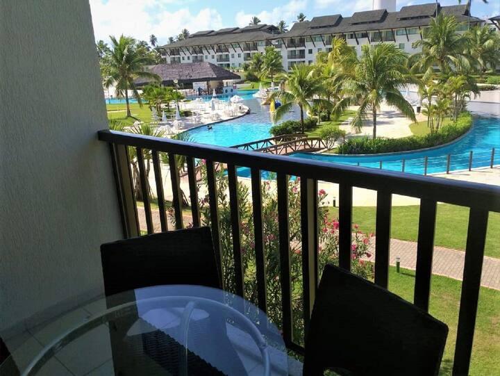 Lindo flat de 2 Quartos com vista privilegiada para a piscina - Beach Class Muro Alto