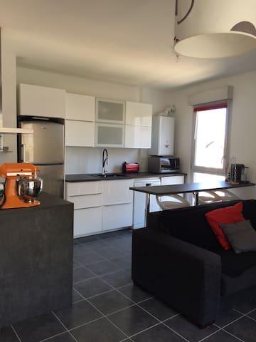 appart 65m2, 2 chambres,4 voyageurs - Villeurbanne - Apartment