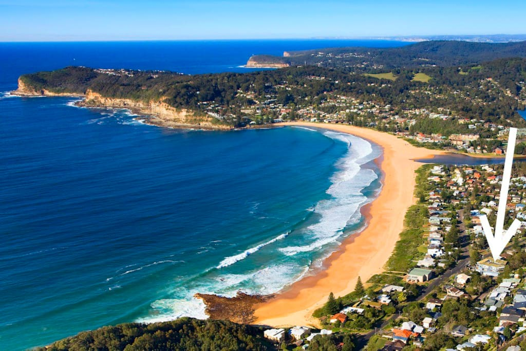 Across the road from North Avoca Beach