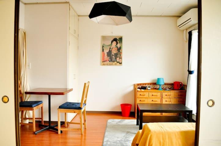 Japanese room+western living room+FREE WIFI - Katsushika - Appartement