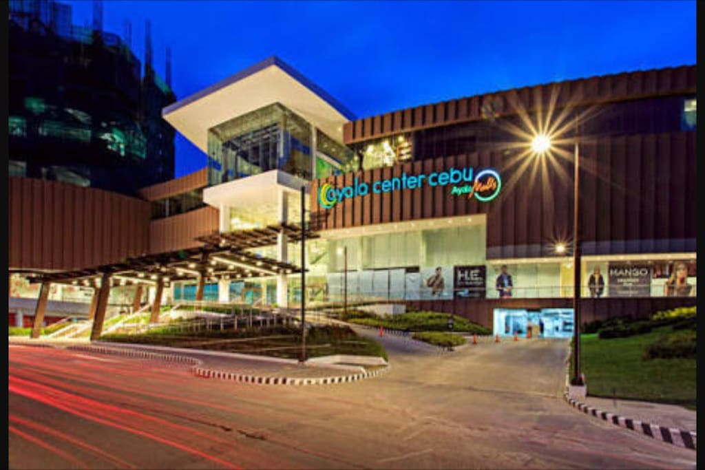 This is the main entrance of Ayala Mall.