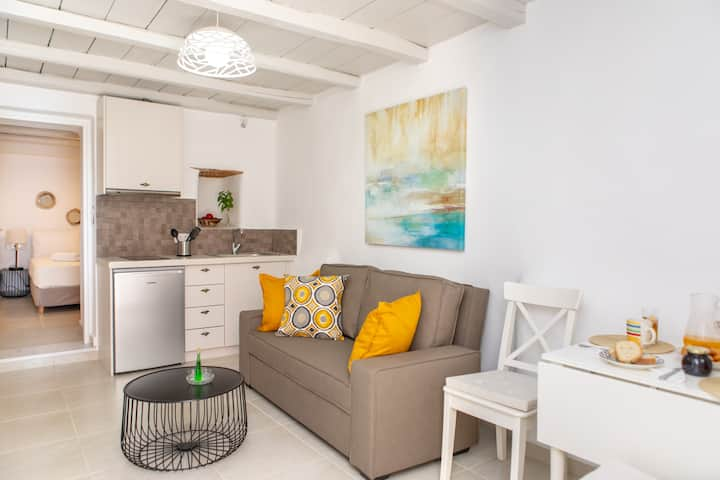 Boutique Studio in the heart of the town, patio