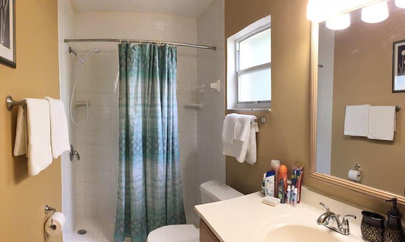 Master bedroom (standing shower)