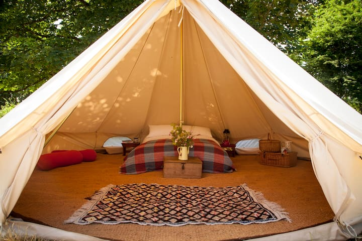 Glamping near Tenby - 2 Bell Tents - Sleeps 8
