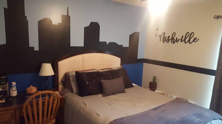 A Cozy room under the Nashville Skyline!