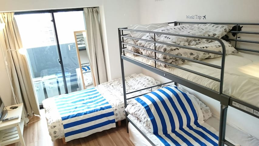 1006 Tokyo here access even  best+Wi-Fi 4ppL stay - sumida koutoubashi - Apartament