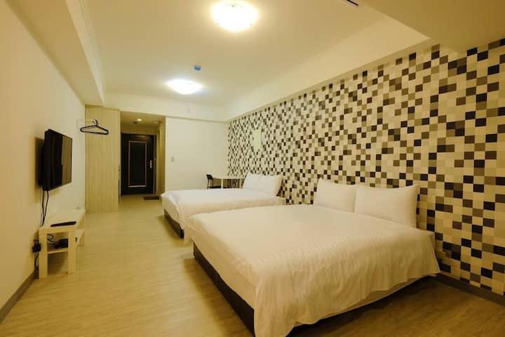 睡台北時尚旅店4人房