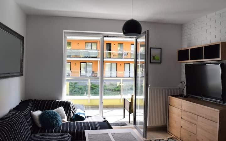 Apartament Julia z tarasem, blisko plaży Kołobrzeg