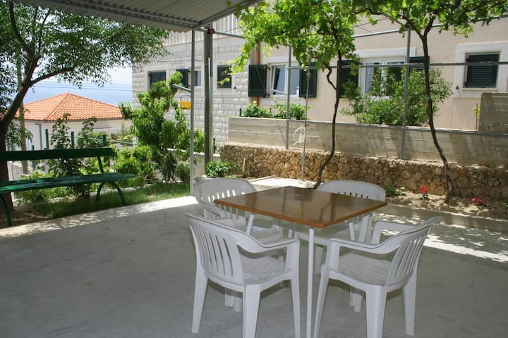 Studio flat with terrace and sea view Stanići, Omiš (AS-2775-b)