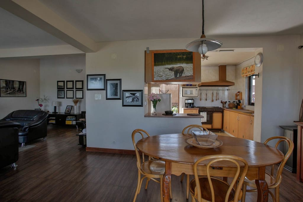 view of dinning room ad kitchen